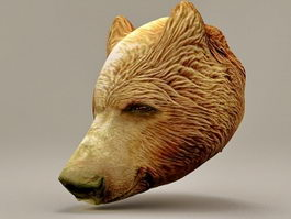 Bear head 3d model preview