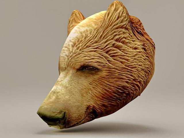 Bear head 3d rendering