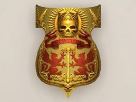 Undead golden shield 3d preview