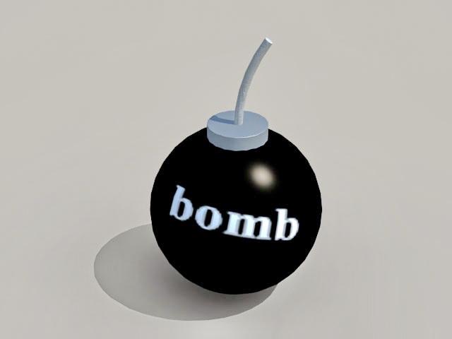 Acme Bomb 3d rendering