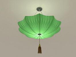 Green Umbrella Pendant Light 3d preview