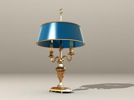 Antique Brass Table Lamp 3d preview