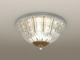 Crystal Ceiling Lamp 3d model preview