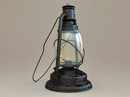 Antique Kerosene Lantern 3d preview