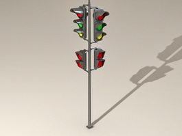 Street Traffic Lights 3d preview