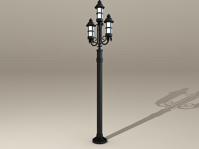Old-Fashioned Street Lamps 3d rendering