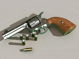 Colt 45 Revolver 3d preview