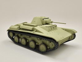 Russian T-60 Scout Tank 3d preview