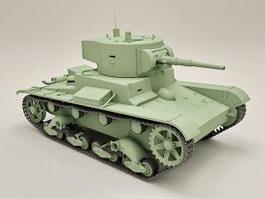 Russian T-26 Light Infantry Tank 3d model preview