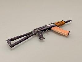 AKS-74U Carbine Low Poly 3d model preview