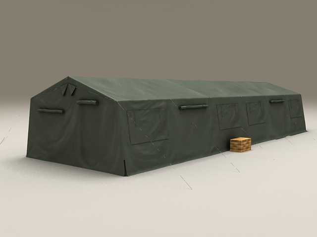 Military Camping Army Tent 3d rendering