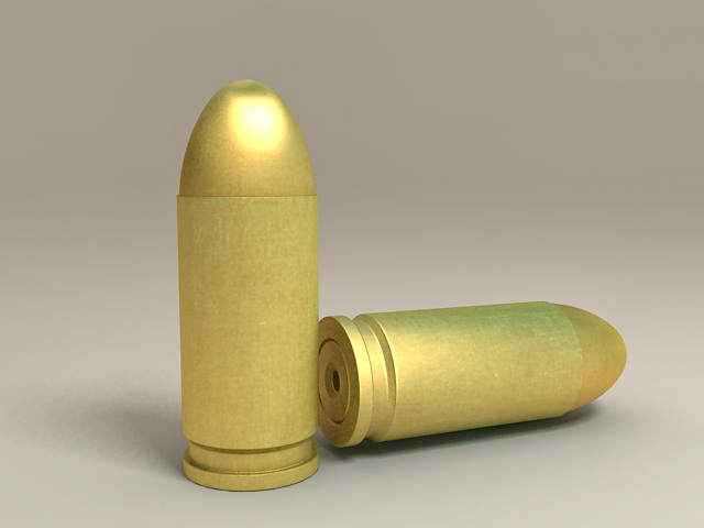 9Mm Bullets 3d rendering