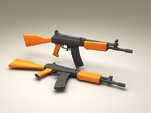 AK-47 Assault Rifle 3d rendering