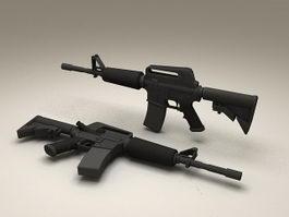 M4 Carbine Assault Rifle 3d preview
