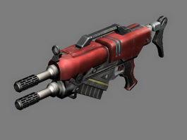 Futuristic Assault Rifle Concept 3d preview