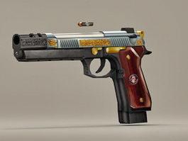 Beretta M92 Pistol 3d model preview