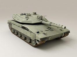 Israel Merkava Tank 3d model preview
