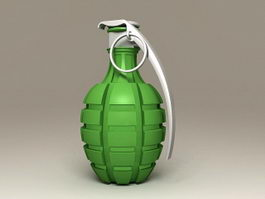 Green Hand Grenade 3d model preview