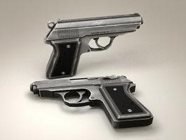 Handgun Pistol 3d model preview