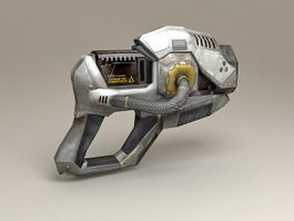 Sci-Fi Pistol Low Poly 3d model preview