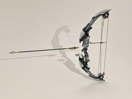 Futuristic Bow and Arrow 3d preview