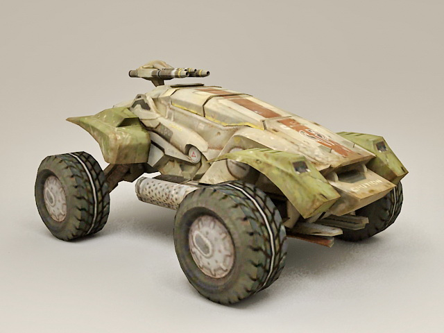 Futuristic Military Vehicle Concept 3d rendering
