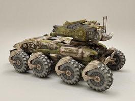 Sci-Fi Combat Vehicle 3d model preview