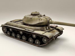 Russian Joseph Stalin 2 Tank 3d preview