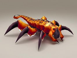 Giant Centipede Monster 3d model preview