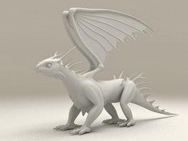 White Dragon 3d model preview