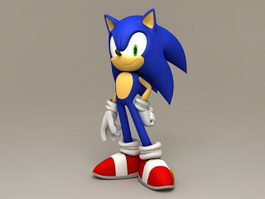 Sonic the Hedgehog 3d model preview