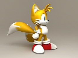 Miles Tails Prower 3d model preview