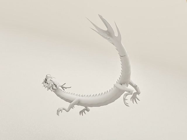 Chinese Dragon Animated 3d rendering