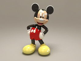 Mickey Mouse Statue 3d model preview