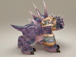 Purple Core Hound 3d model preview