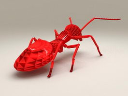 Red Ant Statue 3d model preview