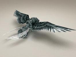 Blue Owl Bird 3d model preview