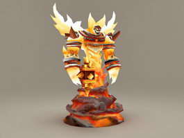 Fire Lord Ragnaros 3d model preview