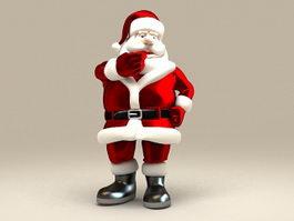 Christmas Santa Claus 3d model preview