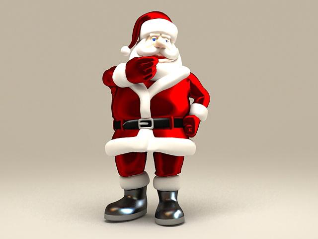 Christmas Santa Claus 3d rendering