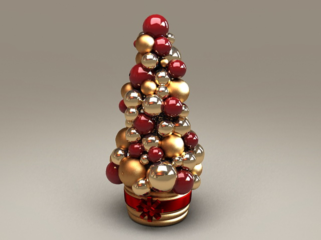 Christmas Ball Ornaments 3d rendering