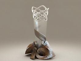 Decorative Glass Vase 3d preview