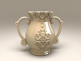 Art Deco Pottery Vase 3d preview