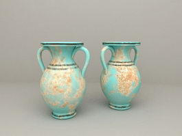 Mediterranean Amphora Vases 3d preview