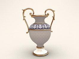 Trophy Shaped Flower Vase 3d preview