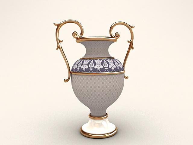 Trophy Shaped Flower Vase 3d rendering