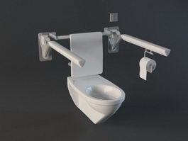 Handicap Bathroom Toilet 3d preview