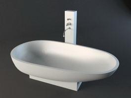 Unique Freestanding Bathtub 3d preview