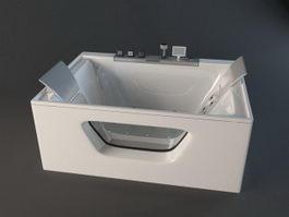 Bathtub Jacuzzi Whirlpool Tub 3d preview
