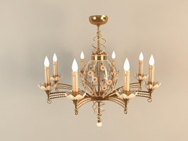 Electric Candle Chandelier 3d preview